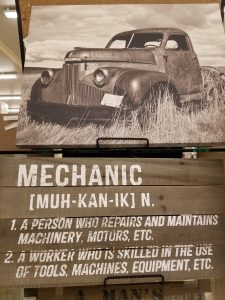 The definition of Mechanic work